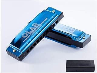 Armónica Chujian, hecha de metal de alta calidad, tono bonito, ideal como regalo (negro/azul/dorado/plateado), azul
