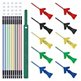 Goupchn 10PCS Mini Grabber SMD IC Test Hook Clips Silicone Jumper Wires Test Leads Kit for Logic Analyzer 5 Colors