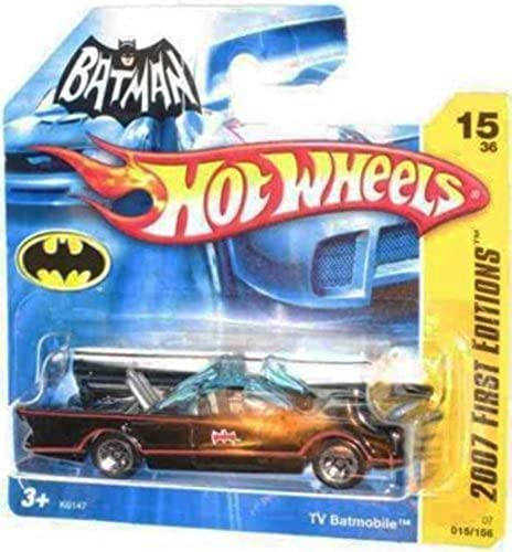 2007 New Models - 15 1966 TV Series Batmobile First Editions Card Short Card Honeycomb Grill  2007-15 Collectible Collector Car Mattel Hot Wheels 1 64 Scale by Hot Wheels