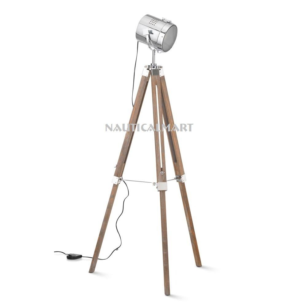 Hollywood trípode teatro lámpara de pie lámpara de pie foco foco Marino por Nauticalmart: Amazon.es: Iluminación
