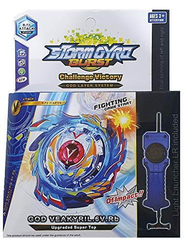 Beyblade Burst Series God Valkyrie Starter with Handle Launcher Spinning and Battling Top