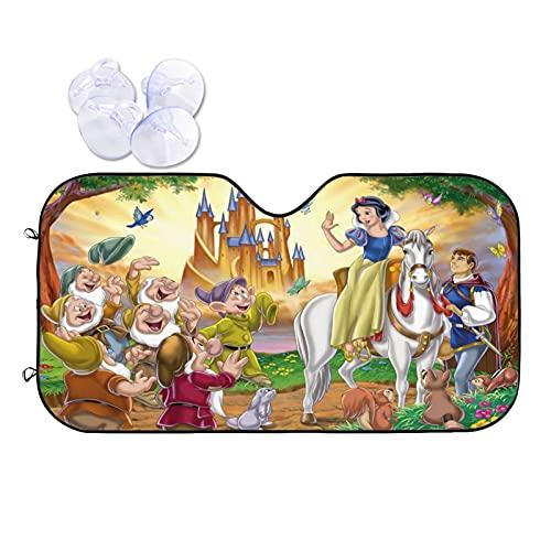 Disney Princess - Parasol plegable para parabrisas de coche, para la mayoría de los sedanes, SUV, camioneta, protege tu vehículo del calor UV