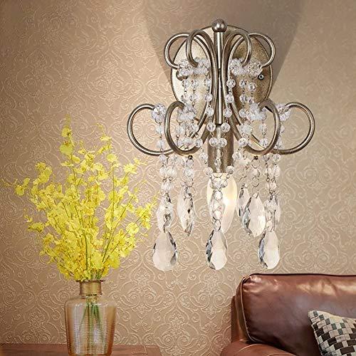 LZDD Lámpara de Sala de Estar de Dormitorio Francés Creativo de Estilo Europeo de Cristal lámpara de Pared Sala de Estar Espejo de Noche lámpara Delantera Moderna Pasillo de Pasillo Luces