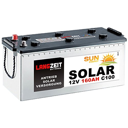 Solarbatterie 160Ah 12V Wohnmobil Boot Wohnwagen Camping Schiff Batterie Solar