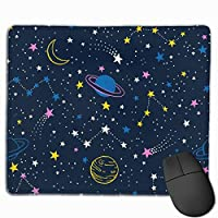 夜空 星空 月 マウスパッド ゲーミング オフィス最適 防水 耐久性が良い 滑り止めゴム底 マウスの精密度を上がる 25x30cm