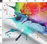abstrakt, Wasserfarben, Spritzer, gemalt, Regenbogen,