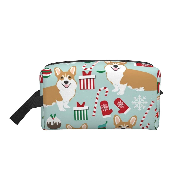 Corgi Ranking TOP14 Christmas Xmas Dogs Travel Bag Portable Makeu Price reduction Makeup