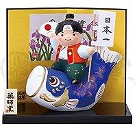 五月人形 コンパクト 陶器 小さい 鯉のぼり/錦彩鯉のぼり桃太郎/こどもの日 端午の節句 初夏 お祝い 贈り物 プレゼント