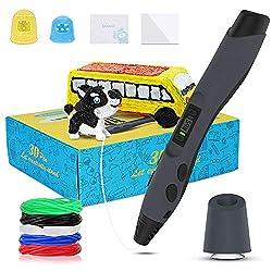 SAMTIAN 3D Druckstift Set, intelligenter Zeichenstift mit LED-Anzeige, 3DPen mit 8 Geschwindigkeitsstufen und Temperaturregelung, 3D Stift kit für DIY, interessante Geschenke für alle Altersgruppen