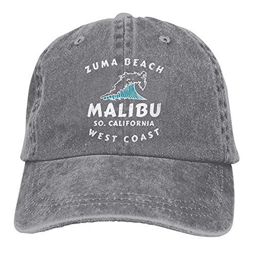 Leumius Zuma Beach - Gorra unisex de algodón ajustable para camionero de Malibu, California
