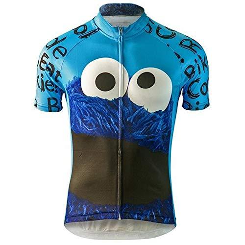 Eating Cookies Herren Radtrikot Kurzarm Fahrradbekleidung Schnelltrocknend MTB Trikot Radshirts - - Groß