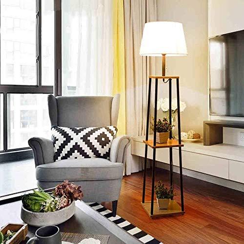 YHtech Simple de pie luminarias china cubierta de tela for el dormitorio de habitaciones y luces de piso for el bulbo de la sala Incluyó