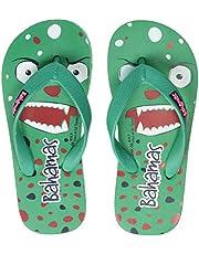 BAHAMAS Unisex Kid's Green Red Slippers-13 UK (31.5 EU) (BHK008C_GRRD0013)