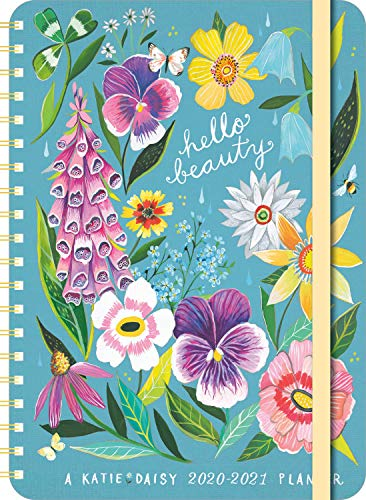 Katie Daisy 2020 - 2021 On-the-Go Weekly Planner: 17-Month Calendar with Pocket (Aug 2020 - Dec 2021, 5' x 7' closed): Hello Beauty