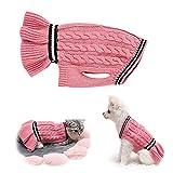 pet maglioni cani gatti maglione lavorato a maglia abbigliamento invernale cappotti per cuccioli giacca abbigliamento gilet felpe per cani di taglia media (rosa, s)