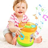 deaunbr Musical Learning Toys for Toddlers 1-3, Music Baby Drum, Early Educational Instruments Toy &...