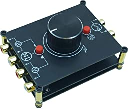 2-Way Stereo L/R RCA Switch Selector 2 in 1 Out Audio Passive Preamp Signal Switcher Splitter Box Volume Control
