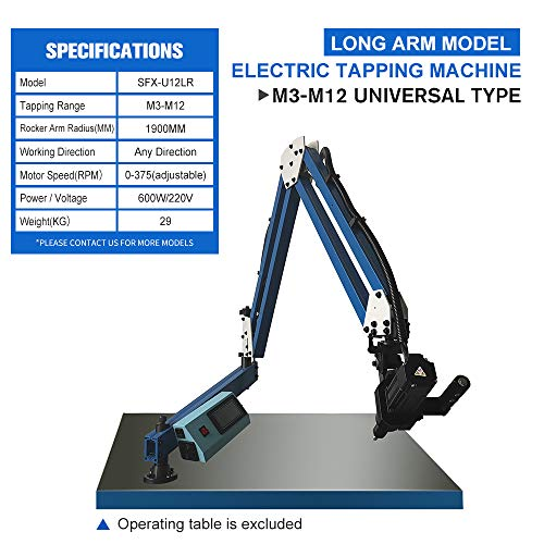 Best Deals! M3-M12 Vertical/Universal ElectricTapping & Drilling Machine Flexible Arm 360° Angle (M...