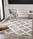 the carpet Vera Handmade-Look, 3D Effekt, Rauten-Muster Breit, Hochflor 30 mm, Super Weicher Wohnzimmer Teppich, 80x150 cm