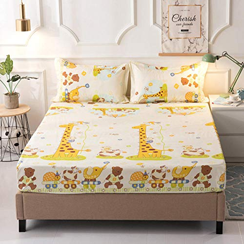 GTWOZNB Super Soft Warm and Cosy Fitted Bed Sheet Waterproof single bed sheet dustproof-Changlu_120*200cm