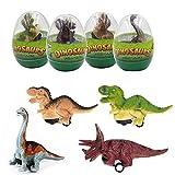 OBEST Dinosaur Pull Back Car, 4 confezioni di uova giganti Ripieno di cesto di Pasqua, Dinosaur Toys Party Holiday per bambini Toddler Boys Girls (Dinosaur egg-4 pack-1)