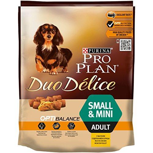 PURINA Pro Plan Duo Délice Comida Seco para Perro Adulto Pequeño, Sabor Pollo con Arroz - 700 g