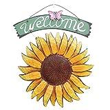 EASYBUY - Segnale di benvenuto da giardino in metallo da appendere, decorazione decorativa...