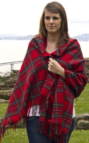 Edinburgh Stola aus Lammwolle in Royal Stewart Tartan