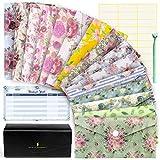 Cash Envelope System Wallet - Saving Money Organizer - 15 Floral Budget Envelopes - Plastic Cash Envelopes for Budgeting - Money Envelopes for Cash - Budget Sheets - Budget Wallet - Receipt Organizer