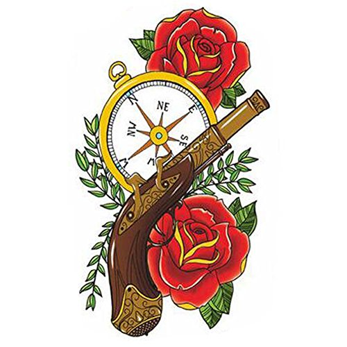 Rose Tattoo Autocollants Mode Tatouages Faux Tatouages créatifs Tatouages temporaires