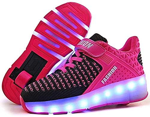 LCNING Roller Chaussures de Baskets de Patins à Rouleau léger avec Roues rétractables Chaussures à Rouleaux de Sport pour Enfants Enfants Juniors garçons Filles Femmes pour Les Femmes et Les Hommes