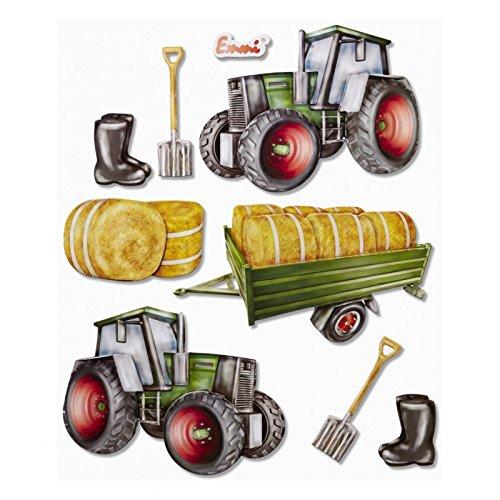 3D XXL-Sticker Traktor