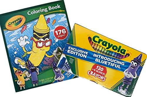 Crayola Bluetiful 124 Crayon Pack and Coloring Book