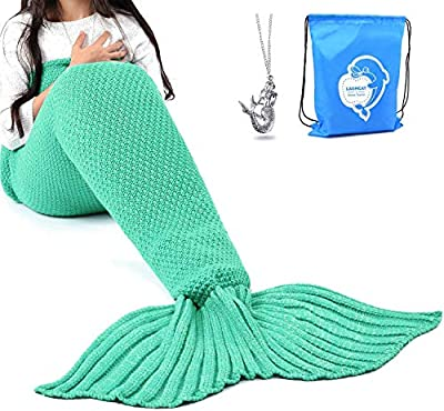 Wearable Mermaid Tail Crochet Blanket for Adults