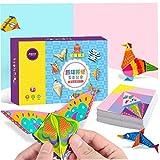DIY colorido de corte de papel de Origami hecho a mano libro Crafts Puzzle Kit Kinder Fun Toy 152pcs / Set (color al azar)