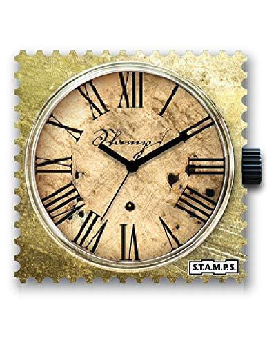 S.T.A.M.P.S. Stamps Uhr komplett - Zifferblatt Time Lord mit Armband Satin Gold