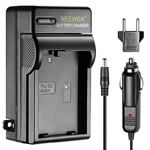 Neewer Cargador LED para Nikon EN-EL14 con Enchufe EE. UU, Adaptador para Cargador de Coche