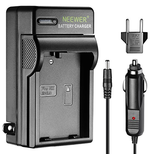 Neewer Caricabatteria LED per Nikon EN-EL14 con Spina USA Adattatore EU Adattatore per Caricabatteria per Auto