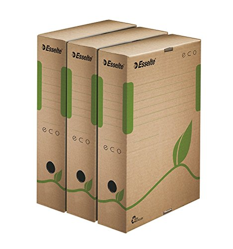 Esselte Archiv Box ECO, 80 mm, natur braun, 50 Stück (50er Set, Archiv Box ECO, 80 mm)