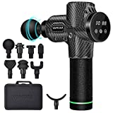 Massage Gun for Athletes, LCD HD Touch Control 30 Speed Handheld 8 Heads Massage Gun Deep Tissue Portable Professional Muscle Massage Gun Percussion Massager Smart Power Outage Quiet Brushless Motor