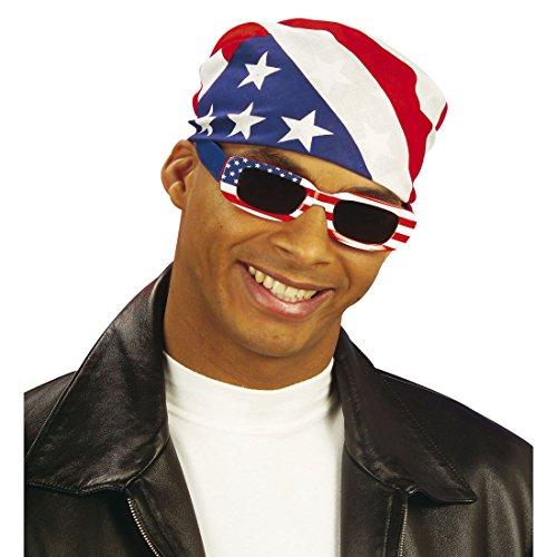 NET TOYS Pañuelo Americano Bandana EE. UU. Paño de Cabeza Barras y Estrellas Accesorio de Cabeza de Hombre Tela para la Cabeza rockero Biker Accesorio Disfraz Motero