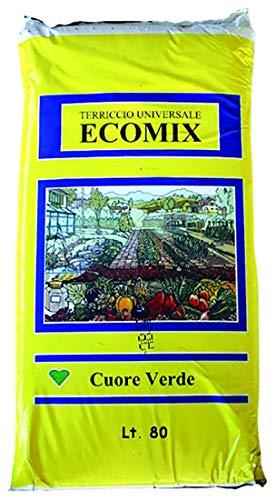 VIALCA TERRICCIO Universale ECOMIX Ideale per Il rinvaso di Piante da Fiore (80 LT)