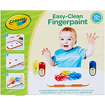 Crayola Washable Finger Paint Station Less Mess Finger Paints for Toddlers Kids Gift 2 ounces