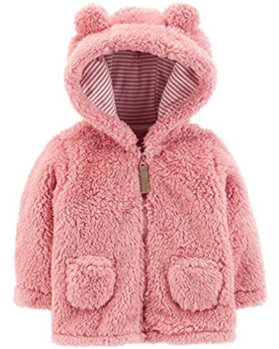 Carter's Baby Girls' 3M-24M Hooded Sherpa Jacket 12 Months, Pink