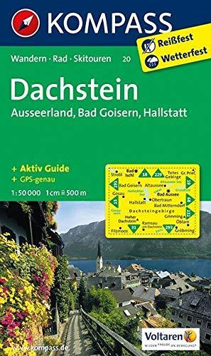 Dachstein - Ausseerland - Bad Goisern - Hallstatt: Wanderkarte mit Aktiv Guide, Skitouren und Radrouten. GPS-genau. 1:50000: Wandelkaart 1:50 000 (KOMPASS-Wanderkarten, Band 20)