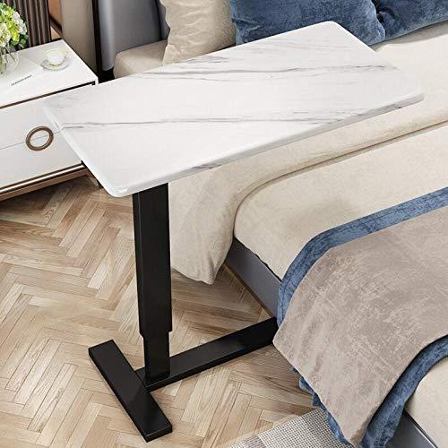SUIYI Rahmen aus Kohlenstoffstahl Beistelltisch Klein mit Beige MDF,Höhenverstellbar, 360 ° Drehbar Und 180 ° Neigbar, Abschließbare Rollen, Arbeitstisch Klappbar für Betten