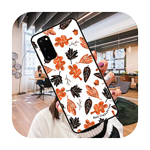 Funda de teléfono para SamSung Galaxy S Note 10 20 7 6 9 8 Plus Edge E Ultra Lite negro cubierta Hoesjes moda funda flor Artwork-Q6-Galaxy S8 Plus