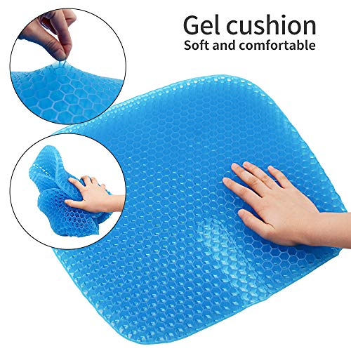 KR Gel Seat Cushion Double Layer Egg Gel Cushion for Pressure Relief Seat Cushion for The CarOfficeWheelchairampChairBreathable DesignDurablePortable