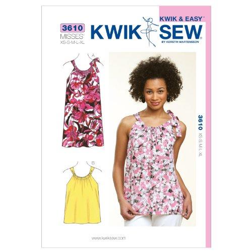 Kwik Sew K3610 Top and Dress Sewing Pattern, Size XS-S-M-L-XL