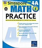 Singapore Math – Level 4A Math Practice Workbook for 5th Grade, Paperback, Ages 10–11 with Answer Key (Singapore Math Practice)